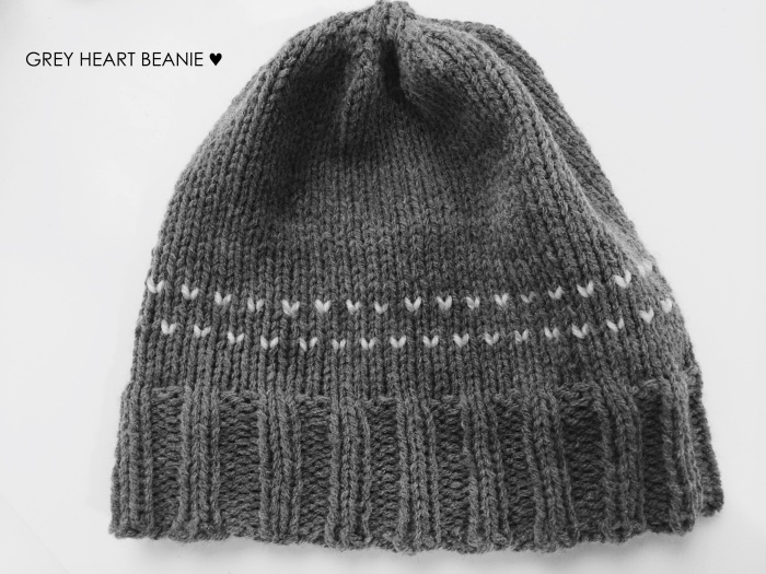 Grey Heart Beanie | Yarn, Things, Etc.